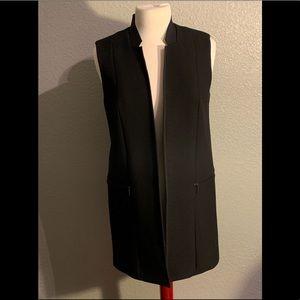 Elie Tahari Long Wool Vest